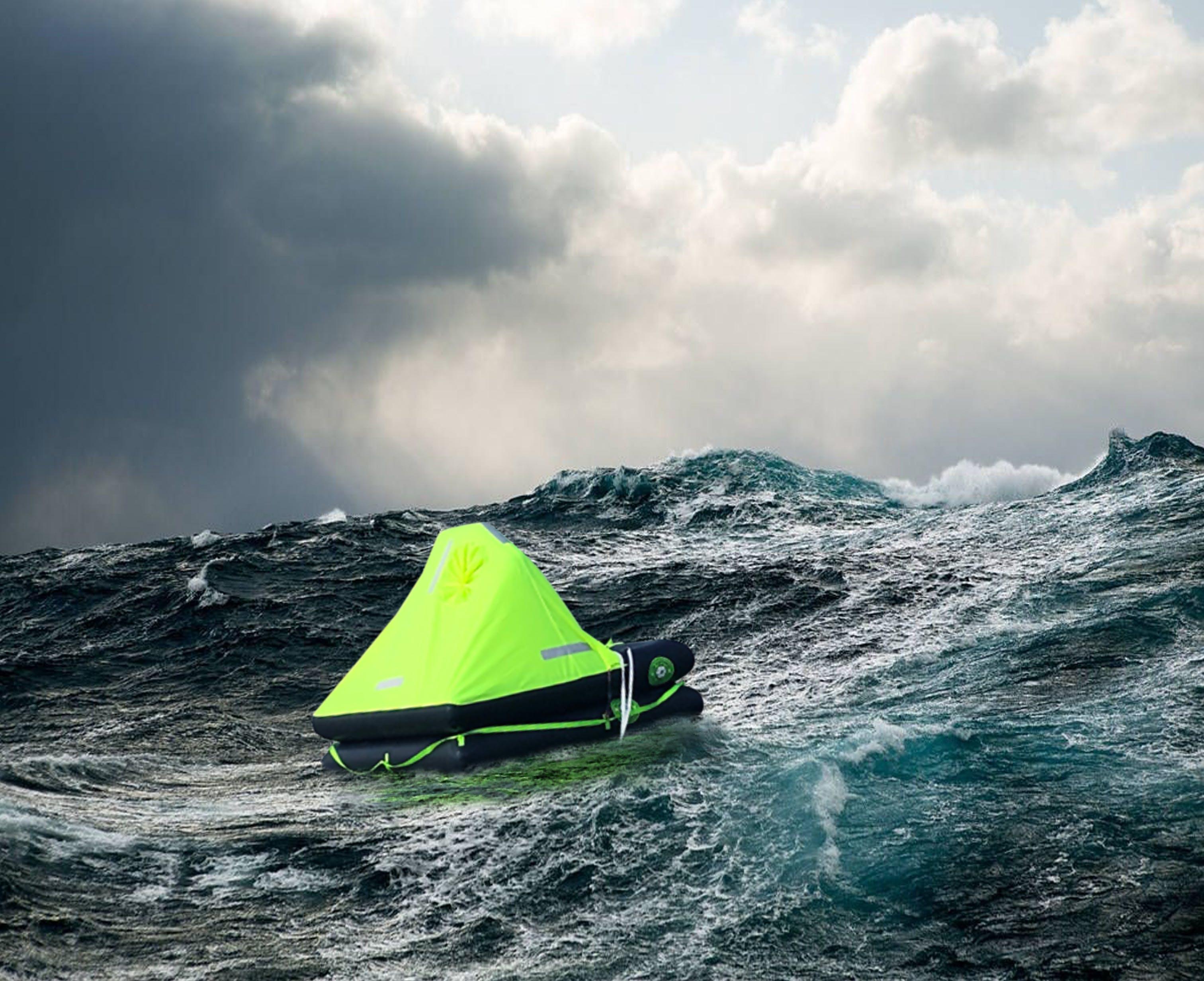 Datrex Raft in Rough Water