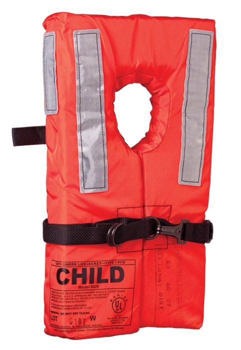 Kent Child Size Type 1 Life Jacket - Collar Style
